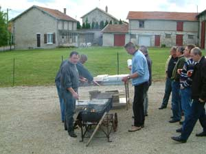 Beim Barbecue in Sommepy